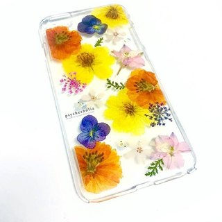 Pressed flower phone case | Cosmos | Happy life | pressed flower phone case
