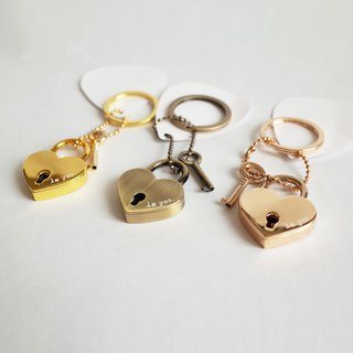 Love key ring lock / strap