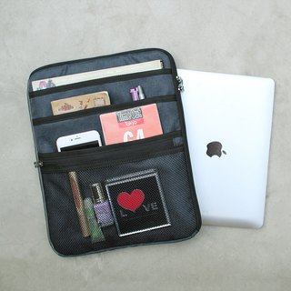 Multi-layered easy to use bag (13.5 notebook OK) hemp black _100443
