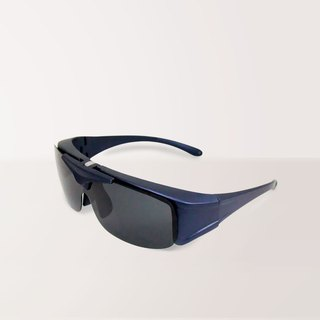 Full cover │ external │ 掀 cover │ texture gray blue UV400 polarized sunglasses