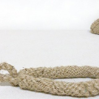 Exclusive Order - Hand woven hemp rope handles / ring