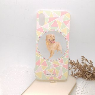 Mosaic Animal phone case - Golden Retriever