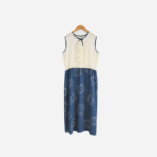 Dislocation vintage / wave sleeveless dress no.701vintage