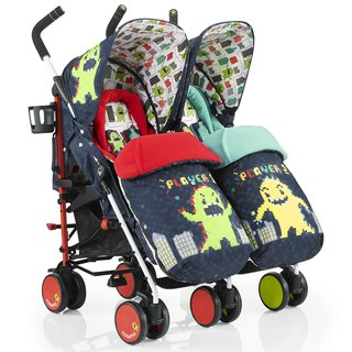 British Cosatto Supa Dupa Double Stroller - Monster Arcade