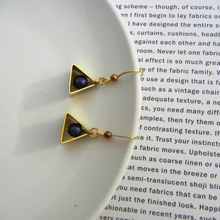 *coucoubird*Small Star/Earring in Stereo Triangle