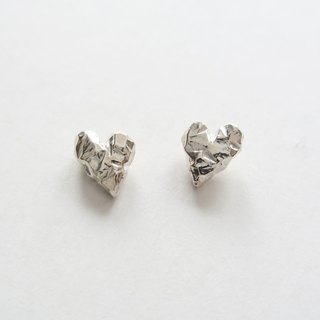 Pair of 925 sterling silver love ore earrings