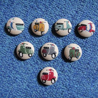 (C) Wei Shi licensing Vespa_ cloth button large badge C54DVX59