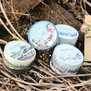 ☁ ☁ chirp Kyrgyzstan watercolor painted paper tape - [View Quadruple travel enrolled /2.5cm]