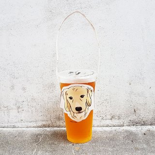 Modeling Drinking Cup Set Bag - Golden Retriever