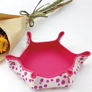 Limited pink dot candy dish [Boute bottle recycling environmental fiber fabric]
