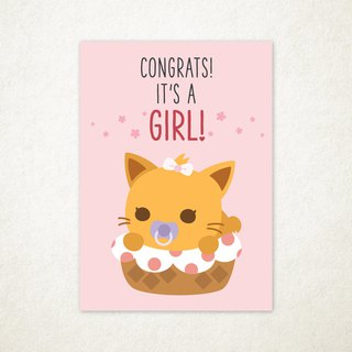 Congrats, It's a Girl Greeting Card