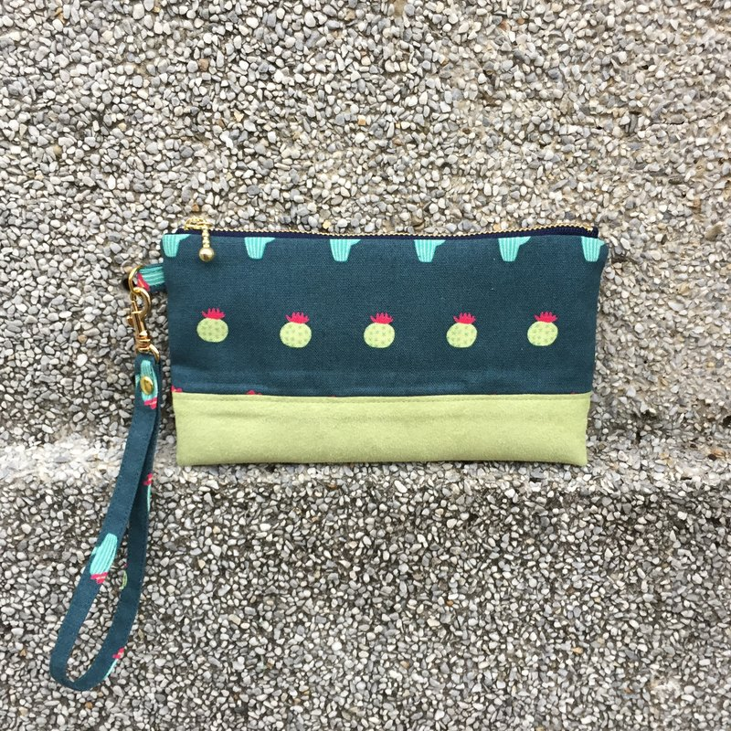 Cactus - Suede Carrying Cosmetic Bag Mobile Phone Case
