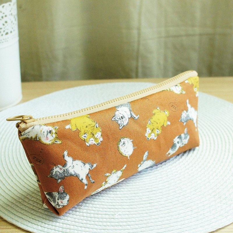 Lovely【日本布訂製】柴犬睡姿筆袋、工具袋、咖啡