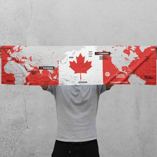 Make World Map Manufacture Sport Towel (Canada)