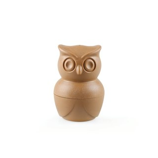QUALY Owl - Pepper Salt Shaker (Coffee)