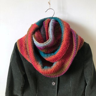 Yellowstone Park - Gradient Color - Handmade Woolen Neck Scarf