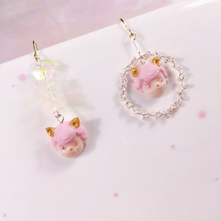 Cat Girl Irregular Earrings Cat Girl Fashion Accessories