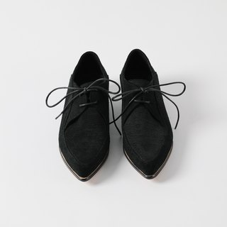 ZOODY / Gem / handmade shoes / flat-bottomed Oxford shoes / black