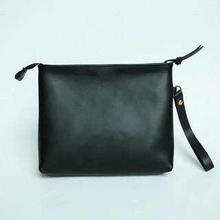 The first clutch only pure handmade black leather high-capacity clutch purse wallet debris bag original wild black simple and practical can hold equipment installed equipment installed equipment installed | ancient leather good original design creativity