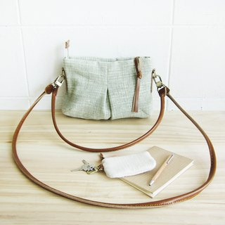 Green Cross-body and Shoulder Mini Skirt Bags Size S  Botanical Dyed Cotton