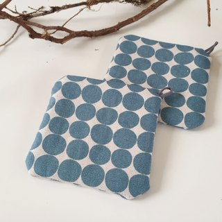 ::Lane68:: Hand Made Coaster - Blue Dots (Set of 2)
