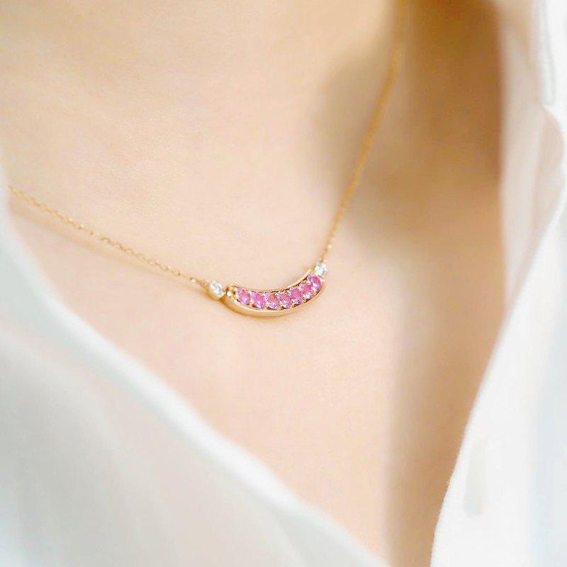優雅閃耀 Anna | 18K金鑽石頸鏈 (可客製化)
