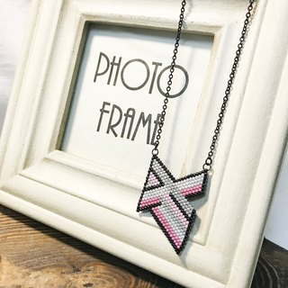 Geometric Series: Stylish Pink Necklace (N1706JS)