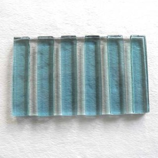 Wide straight scented soap dish (blue)