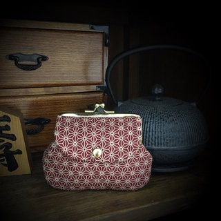 Hemp leaf pocket bag - red