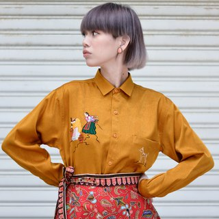 Labor - Yellow | Baroque Long Sleeve Vintage Shirt