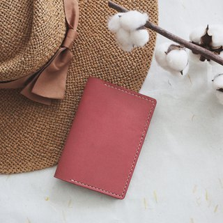 Vegetable Tanned Leather Passport Holder - Dusty Pink