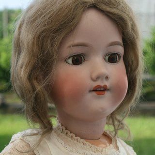 {WildGarden} German antique pottery head Marseille doll Armand Marseille 1885-1930s