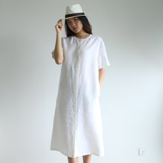 Made to order linen dress / linen clothing / long dress / casual dress E37D