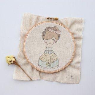 Odelia Ortiri illustration embroidery material package