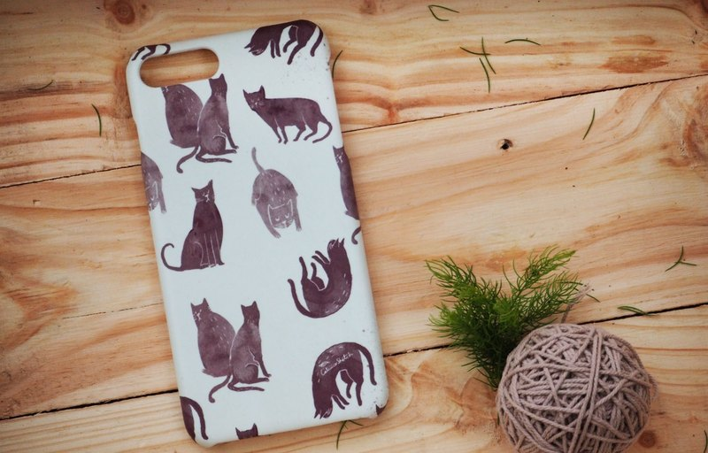iphone case print high quality with cat action