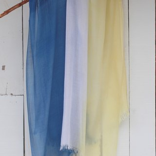 Free dyeing isvara blue stained cotton scarf pure series flow