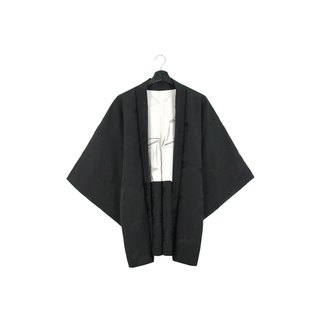 Back to Green-Japan with back feather embossed lining ink / vintage kimono