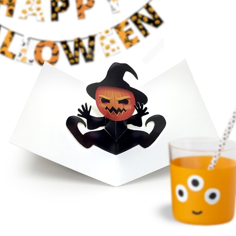 Halloween Card | Pumpkin Jack Card | Halloween Pop Up Card