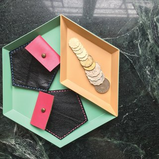 Sonniewing's Playful Pentagon Leather Coin Purses