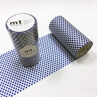 KAMOI mt CASA tape 100mm【Dot - Night Blue (MTCA1102)】