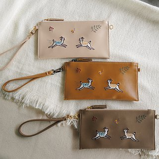 Goat Long Wallet (white)