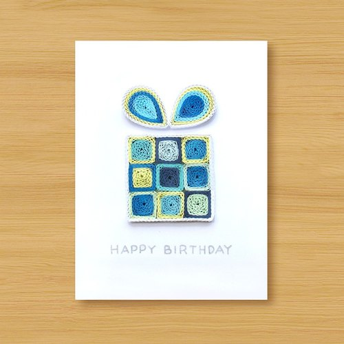 Hand roll card: square sugar gift box _B (birthday card, thanks card, universal card)