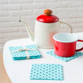 Coaster - Set of 4 - Dot Mint