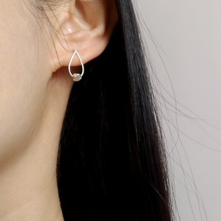 [Small moment]. Simple silver earrings ear clip / ear clip