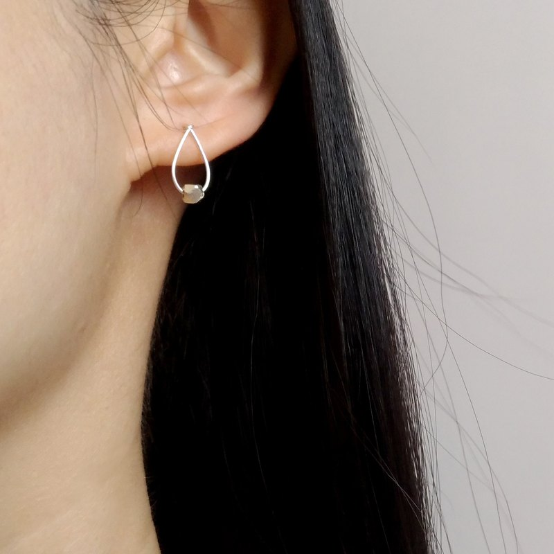 Small moment - sterling silver simple small earrings ear / ear clip