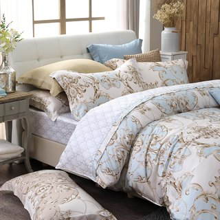 Large size - Love Versailles - blue - Tencel was four sets of bed linen [100% through the SGS test Lacey Tencel]