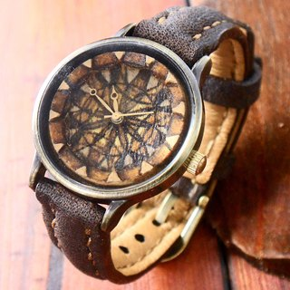 Retro classic wood carving handmade handmade watch handmade strap only one