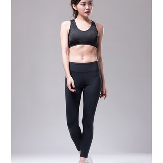 Aurora stretch tight yoga pants / black