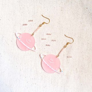 Pink Planet / Earrings