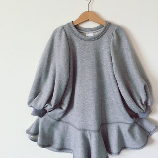Girl child in gray cotton long dress